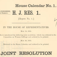 Ratification of the 19th Amendment