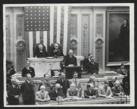 President Roosevelt Reads Veto Message