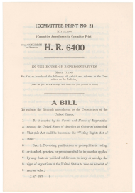 House Resolution 6400, the Voting Rights Bill