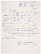 <em>Mrs. Bertram Jeffrey Letter to the House Judiciary Committee</em>