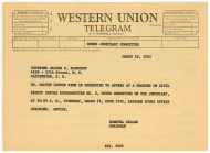 <em>House Judiciary Committee Telegram to Dr. Martin Luther King, Jr.</em>