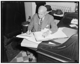 House Journal Clerk Louis Sirkey Records the Results of a Vote