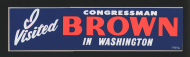 Brown Bumper Sticker