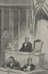 The Fifty-Third Congress – Speaker Crisp Calling the House to Order (detail)