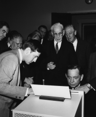 Carl Albert of Oklahoma Tests the House's New Computers