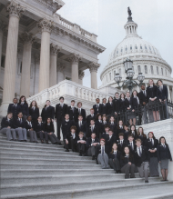 House Pages pose for a class picture on the East Front of the Capitol