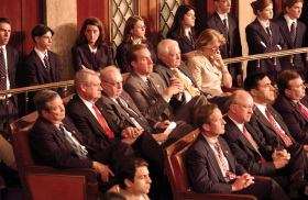 Pages in the Chamber During a Joint Meeting
