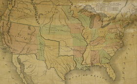 E. Gilman Map of the United States, 1848