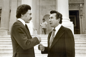 Herman Badillo of New York with Ron Dellums of California