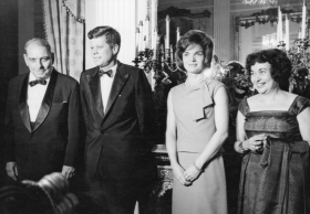 Puerto Rican Governor with President Kennedy