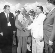 President Turman with Jesús Piñero of Puerto Rico and Luis Muñoz Marín