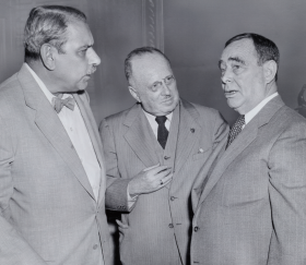 Antonio Fernós-Isern of Puerto Rico, Governor Luis Muñoz Marín and Speaker Joseph Martin of Massachusetts