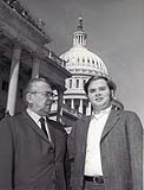 <em>George W. Andrews III with his Father at the Capitol</em>
