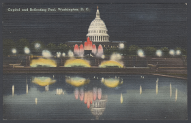 Capitol and Reflecting Pool Postcard