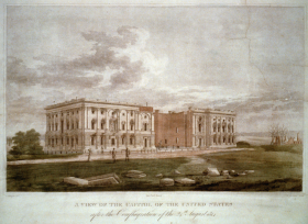 The Capitol Building following the Burning of Washington, D.C.