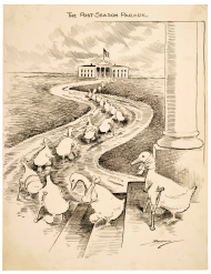 Clifford K. Berryman Lame Duck Political Cartoon