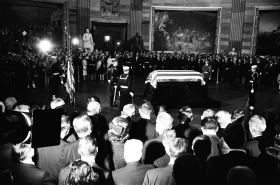 President Kennedy's body in the Capitol Rotunda