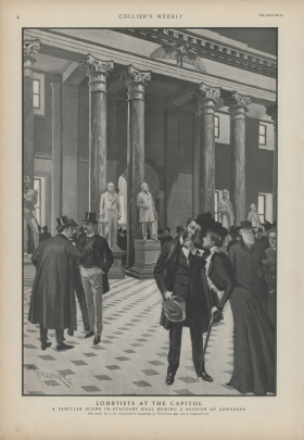 Constituents lobbied in the lobby, but also in Statuary Hall, in 1900.