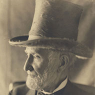 Joseph Cannon in his topper
