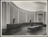 In 1949, while the Chamber was under construction, the House of Representative assembled in 1100 Longworth, the usual home the the Committee on Ways and Means.