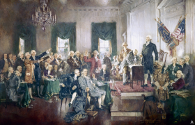 George Washington of Virginia Presides over the Federal Convention of 1787