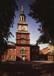 Independence Hall in Philadelphia, Pennsylvania, housed the Continental and Confederation Congresses throughout the Revolutionary War. After leaving Philadelphia in 1783, the Congress moved four times before settling in New York's City Hall in 1785.