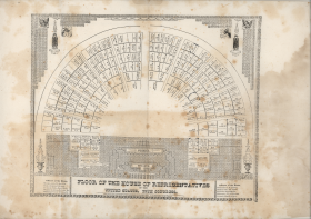 This seating chart provides the layout of the House Chamber in the 29th Congress (1845–1847).
