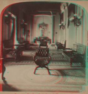 Anaglyph Version of House Reception Room Stereoview