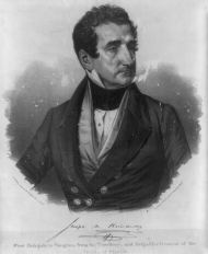 Joseph Hernández served one term as the Delegate from the Florida territory, marking him as the first Hispanic American Member of Congress.