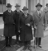 Resident Commissioner Félix Córdova Dávila of Puerto Rico (far left) visits the White House in 1924 with other leaders from the island. The delegation pressed President Calvin Coolidge to grant Puerto Ricans the right to elect their own governor. Until the 1940s, Puerto Rican governors were appointed by U.S. Presidents.