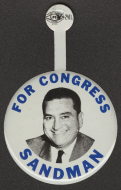 "In the 1960s and 1970s, <a title=""Charles Sandman"" href=""/People/Detail/21188?ret=True"">Charles Sandman</a> of New Jersey handed out metal tabs that looked just like traditional campaign buttons."