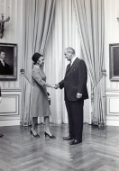 Representative Kelly and President Johnson