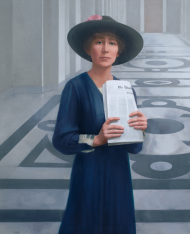 "In her opposition to the 1941 declaration of war against Japan, Jeanette Rankin famously announced, ""As a woman I can't go to war, and I refuse to send anyone else."""