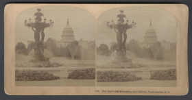 Bartholdi Fountain Stereoview