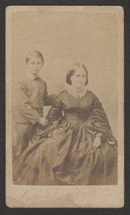 Albert S. Pillsbury and Elizabeth Wimble Smith Pillsbury Carte-de-visite