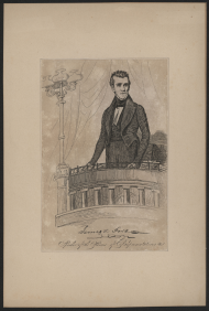 Autographed print of James K. Polk, ca. 1836.