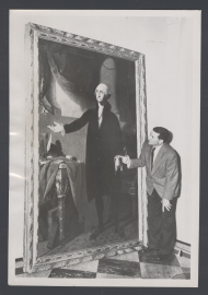James G. Fulton with the featured George Washington portrait.
