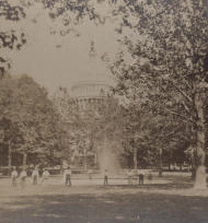 Stereoview of the Capitol in the 19th Century