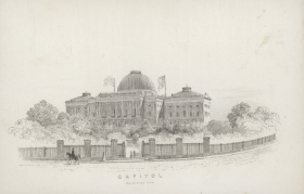 South West View of the Capitol from 1845