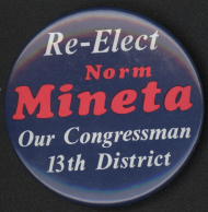 Representative Norm Mineta represented a district in the heart of Silicon Valley during the rise of the tech industry. He co-founded the Asian Pacific American Caucus.