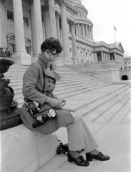 Seelmeyer was often stationed on the Capitol's front steps.