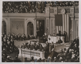 President Roosevelt Speaking During a Joint Session in 1937