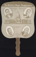The growth in African-American representation in Congress was traced on successive versions of this popular fan.