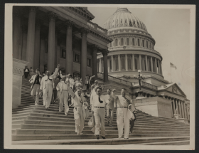 Members Head Down the Capitol Steps
