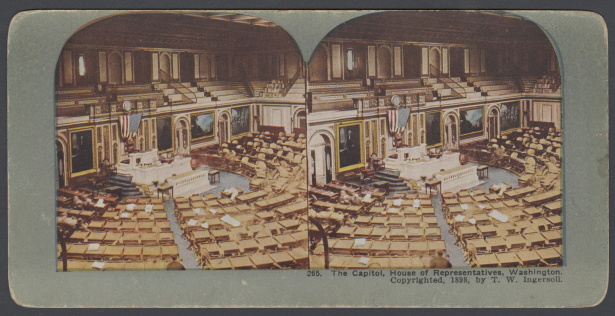 The Capitol, House of Representatives, Washington Stereoview