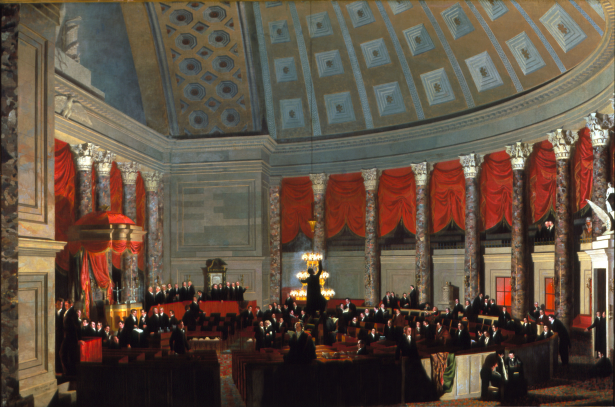 The House of Representatives, Samuel F.B. Morse, oil on canvas, 1822