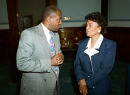 <i>Representatives Eva M. Clayton and Edolphus Towns</i>