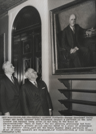 Inspecting the Portrait of Speaker Sam Rayburn