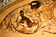 Beaver and Otter from Ceiling Mural