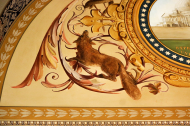 Fox and U.S. Capitol Building from Ceiling Mural